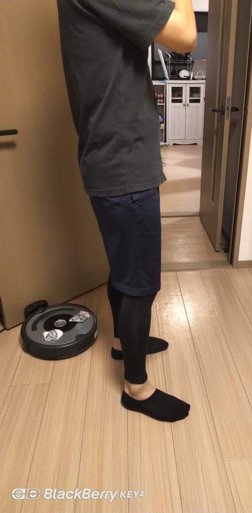 ユニクロのサポートタイツ履いてみた(横)